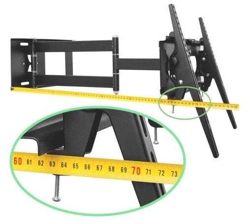 soporte tv brazo articulado largo