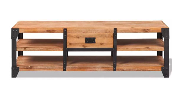 mueble tv industrial madera